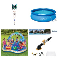 Pallet - 36 Pcs - Pools & Water Fun, Decor - Customer Returns - Play Day, Iron Stop, SwimSchool