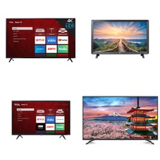 36 Pcs - LED/LCD TVs - Refurbished (GRADE A, GRADE B) - TCL, LG, HITACHI, HISENSE