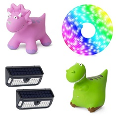 3 Pallets - 210 Pcs - Outdoor Play, Patio & Outdoor Lighting / Decor, Grills & Outdoor Cooking, Pools & Water Fun - Customer Returns - Bounce Buddies, Westinghouse Lighting, Jem Accessories, Honeywell