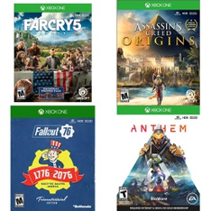 143 Pcs - Microsoft Video Games - Like New, Used, Open Box Like New, New - Far Cry 5 Standard Edition (Xbox One), Fallout 76 Tricentennial Edition, Xbox One, Assassin's Creed Origins (XB1), Anthem Shooter Video Game Xbox One