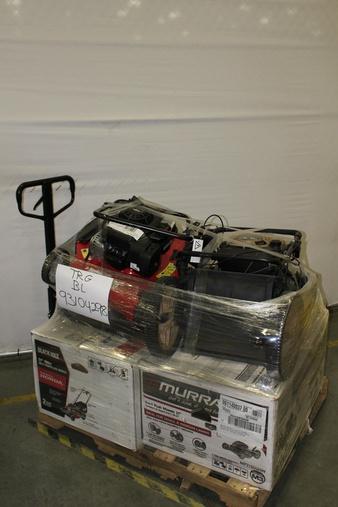 Pallet – 5 Pcs – Lawn Mowers – Customer Returns – Husqvarna, Hyper Tough