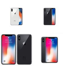 11 Pcs - Apple iPhone X - Refurbished (GRADE B - Unlocked) - Models: 3D063LL/A, MQA52LL/A, MQAJ2LL/A, MQA82LL/A