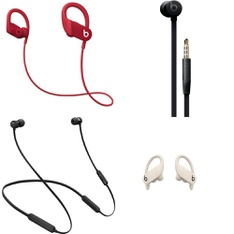 100 Pcs - Apple Beats Headphones - Refurbished (GRADE D, No Packaging) - Models: MTH52LL/A, MWNX2LL/A, MU982LL/A, MV722LL/A