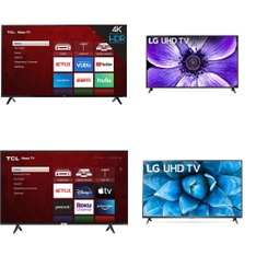 24 Pcs – LED/LCD TVs – Refurbished (GRADE A) – TCL, LG, HISENSE