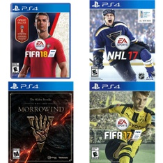 69 Pcs - Sony Video Games - Open Box Like New, Used, New, Like New - FIFA 18 Standard Edition (PlayStation 4), The Elder Scrolls Online: Morrowind (PS4), NHL 17(PS4), FIFA 17 PS4