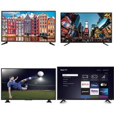 24 Pcs – LED/LCD TVs – Refurbished (GRADE A, GRADE B) – RCA, HISENSE, PROSCAN, TCL