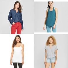 201 Pcs - Shirts & Blouses - New - Retail Ready - Universal Thread, Gilligan & O'Malley, C9 Champion, Wild Fable