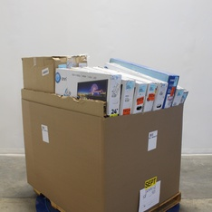 Pallet - 29 Pcs - Monitors, Networking - Tested NOT WORKING - HP, Onn, Samsung, Dell Marketing USA, LP
