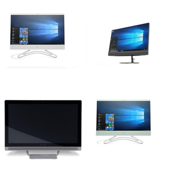 5 Pcs – Desktop & All-In-One Computers – Salvage – HP, LENOVO