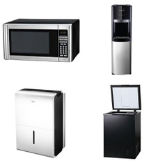 Pallet - 8 Pcs - Microwaves, Bar Refrigerators & Water Coolers - Customer Returns - Hamilton Beach, Primo, Arctic King, Midea