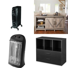 6 Pallets - 156 Pcs - Heaters, Vehicles, Trains & RC, Bedroom, Hardware - Customer Returns - Mainstay's, New Bright, Better Homes & Gardens, Honeywell