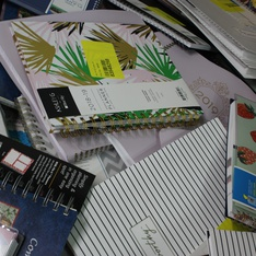 CLEARANCE! 1 Pallets - 1382 Pcs - Office Supplies, Calendars - Customer Returns - Blue Sky, Moleskine, AT-A-GLANCE, Orange Circle Studio