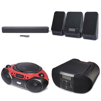 Pallet – 148 Pcs – Accessories, Speakers, Boombox – Customer Returns – Onn, onn., One For All