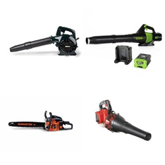 5 Pcs - Leaf Blowers & Vaccums - Refurbished (GRADE B, GRADE D) - Bolens, GreenWorks