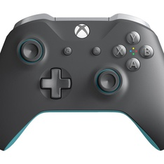 80 Pcs - Microsoft WL3-00105 Xbox One Wireless Controller, Gray & Blue - Refurbished (GRADE A) - Video Game Controllers