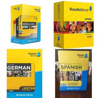 40 Pcs – Rosetta Stone Computer Software – Like New, Used, Open Box Like New, New, New Damaged Box