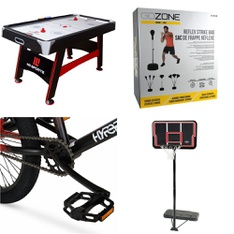 Pallet – 7 Pcs – Cycling & Bicycles, Game Room – Customer Returns – Movelo, MD Sports, Hyper Bicycles, GoZone