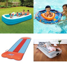 Pallet - 387 Pcs - Hardware, Pools & Water Fun, Camping & Hiking, Outdoor Sports - Customer Returns - Play Day, Bestway, Brinks, Kaz USA, Inc.