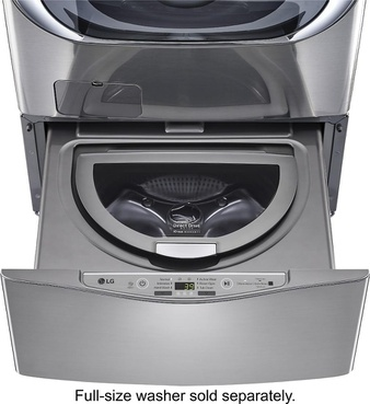 Lowes – Pallet – LG Electronics WD100CV 27 in. 1.0 cu. ft. SideKick Pedestal Washer with TWINWash System Compatibility in Graphite Steel – New Damaged Box (Scratch & Dent)