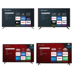 60 Pcs – LED/LCD TVs – Refurbished (GRADE A, GRADE B) – TCL, Onn, LG, onn.