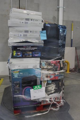 12 Pallets – 245 Pcs – Speakers, Portable Speakers, Receivers, CD Players, Turntables – Customer Returns – Ion, Blackweb, LG, Monster