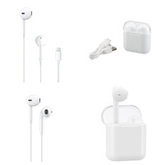 3 Pallets – 1382 Pcs – In Ear Headphones, Lamps, Parts & Accessories, Over Ear Headphones, Networking – Customer Returns – Apple, Onn, Blackweb, One For All