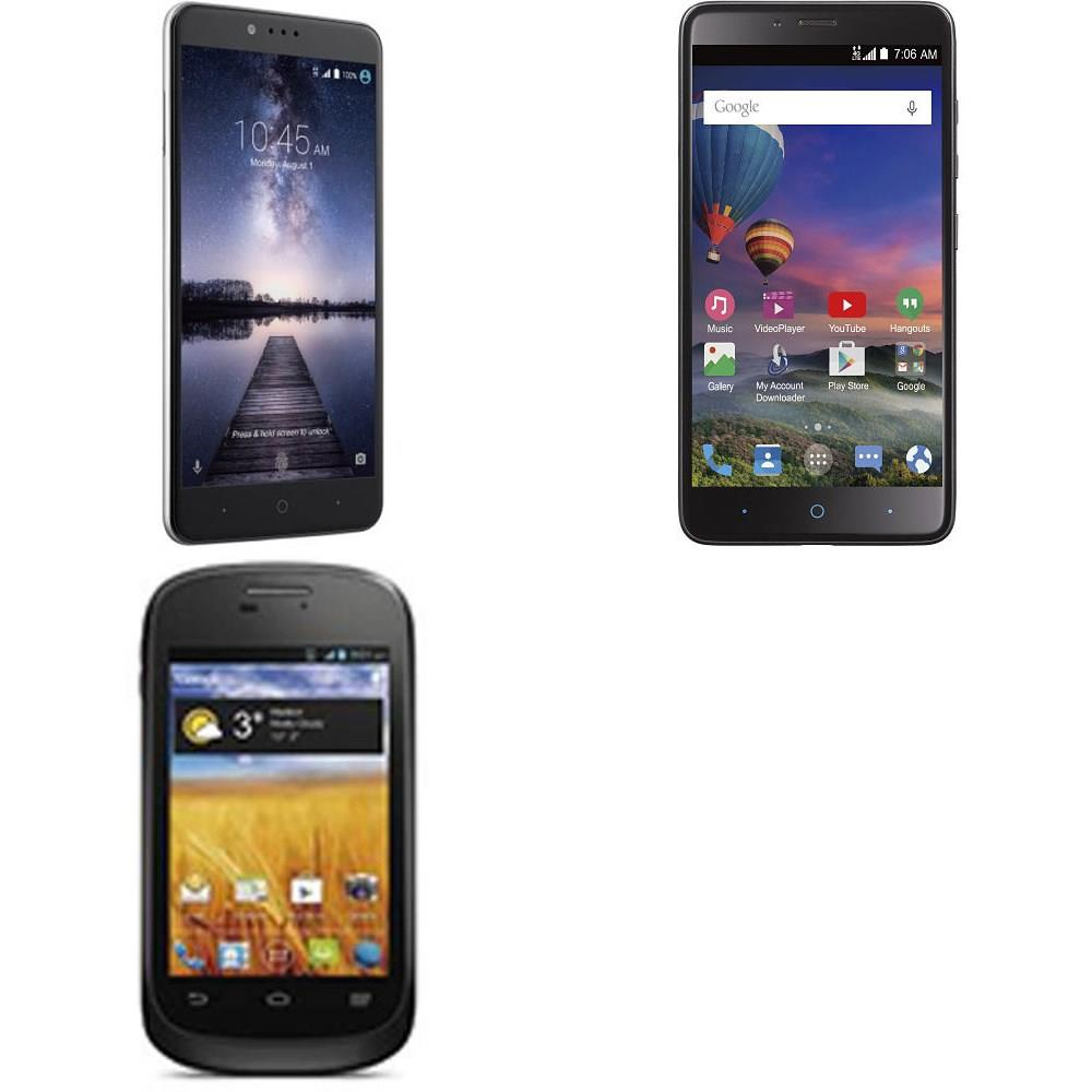 64 Pcs - ZTE Smartphones - Tested Not Working - Models: STZEZ917VCP,  Z963VL, Z971, WFMZEZ836BGP5