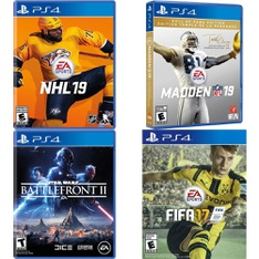 150 Pcs - Sony Video Games - Like New, Used, Open Box Like New, New - NHL 19 - PlayStation 4, Star Wars Battlefront II (PS4), Madden NFL 19: Hall of Fame Edition (PS4), FIFA 17 PS4