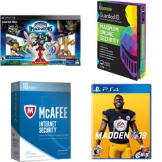 124 Pcs - Video Games & Gaming Software - New Damaged Box, Open Box Like New, New, Like New, Used - McAfee, Activision, Electronic Arts, StrikeForce