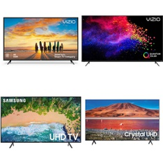 6 Pcs - LED/LCD TVs - Refurbished (GRADE A, GRADE B, No Stand) - VIZIO, Samsung, Onn