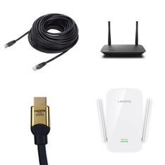 Pallet – 27 Pcs – Computer Networking & Storage – Customer Returns – Onn, Blackweb, Linksys, Netgear