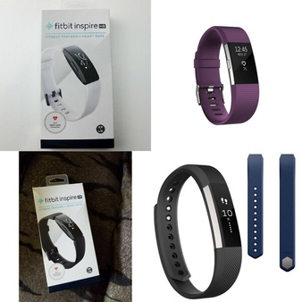 CLEARANCE! 263 Pcs – Fitbit – Brand New, Refurbished (GRADE A, GRADE B, GRADE C) – Models: FB413BKWT, FB413BKBK, FB407SPML, FB406BKS-SS