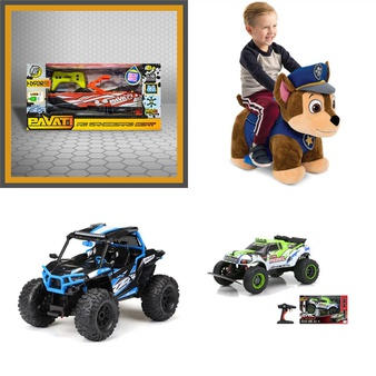 3 Pallets – 82 Pcs – Vehicles, Trains & RC, Vehicles, Accessories – Customer Returns – New Bright, Adventure Force, Huffy, Jada Toys