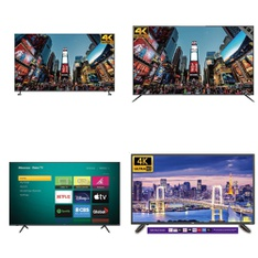 6 Pcs – LED/LCD TVs – Refurbished (GRADE A) – RCA, HISENSE, TCL