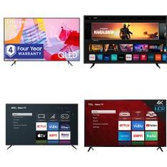 24 Pcs – LED/LCD TVs – Refurbished (GRADE A, GRADE B) – Samsung, VIZIO, TCL, onn.