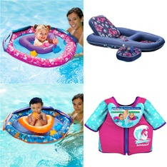 Pallet – 77 Pcs – Pools & Water Fun – Customer Returns – SwimSchool, Waterlife