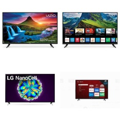 5 Pcs – LED/LCD TVs – Refurbished (GRADE C) – VIZIO, LG, TCL