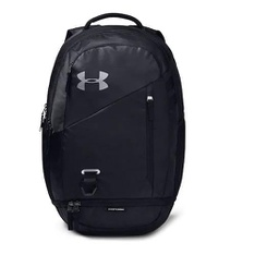 6 Pcs – Under Armour 1342651 Hustle 4.0 Backpack, Black Silver – New – Retail Ready
