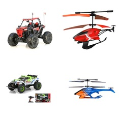 3 Pallets - 228 Pcs - Vehicles, Trains & RC, Action Figures, Water Guns & Foam Blasters - Customer Returns - New Bright, Adventure Force, Sky Rover, VTECH