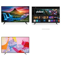 5 Pcs – LED/LCD TVs – Refurbished (GRADE C) – VIZIO, Samsung