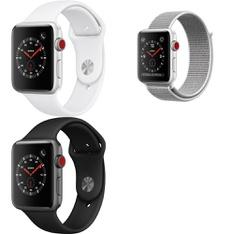 5 Pcs – Apple Watch – Series 3 – 42MM – Cell – Refurbished (GRADE A) – Models: MTGT2LL/A, MTGR2LL/A, MQK52LL/A