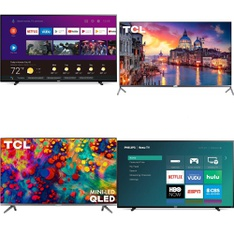 36 Pcs – LED/LCD TVs – Refurbished (GRADE A, GRADE B) – Philips, TCL