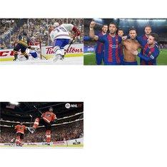70 Pcs - Microsoft Video Games - New, Open Box Like New, Used - NHL 18 (XB1), NHL 17 :Xbox One, Pro Evolution Soccer 2017 (Xbox One) Standard Edit