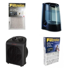 Pallet - 44 Pcs - Heaters, Humidifiers / De-Humidifiers - Customer Returns - Honeywell, Mainstays, Filtrete, Comfort Zone