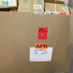 Clearance! Pallet - 626 Pcs - Hardware, Non-Smart, Accessories, Other - Brand New - Retail Ready - Hubbell, GE, Cooper Bussmann, Sigma Electric