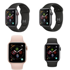 300 Pcs - Apple Watch Gen 4 - Refurbished (GRADE A) - Models: MTUW2LL/A, MU682LL/A, MU6D2LL/A, MTUG2LL/A