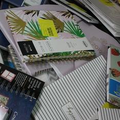 CLEARANCE! Pallet - 1382 Pcs - Office Supplies, Calendars - Customer Returns - Blue Sky, Moleskine, AT-A-GLANCE, Orange Circle Studio