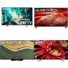 9 Pcs – LED/LCD TVs – Brand New – LG, Samsung, TCL, Sony