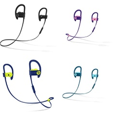 25 Pcs - Powerbeats3 Headphones (Tested NOT WORKING) - Models: ML8V2LL/A, MREQ2LL/A, MREW2LL/A, MRET2LL/A