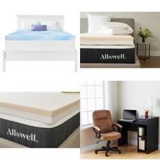 Pallet - 26 Pcs - Covers, Mattress Pads & Toppers, Office, Bedroom - Customer Returns - Mainstay's, Allswell, Dream Serenity